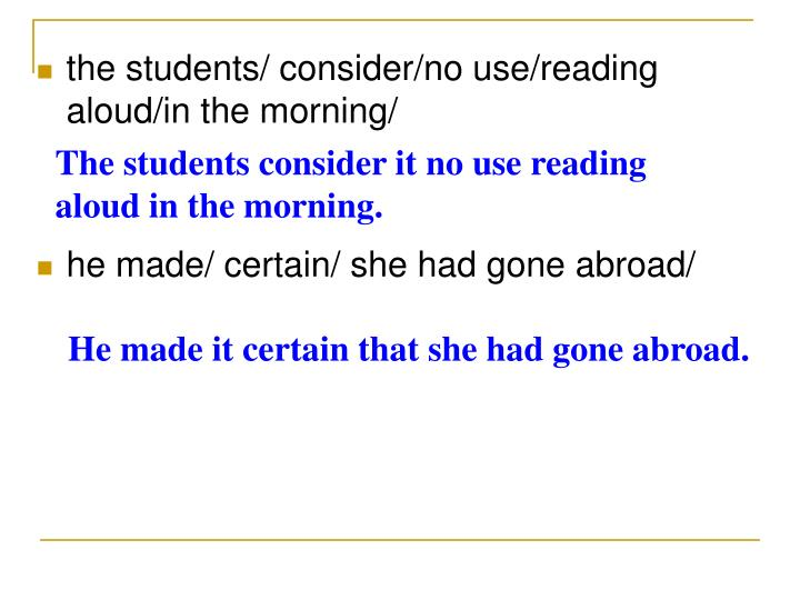 The students consider it no use reading