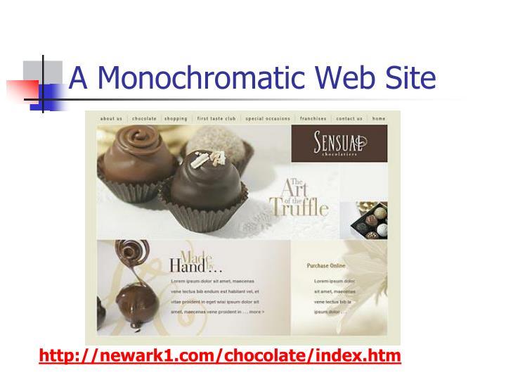 A Monochromatic Web Site