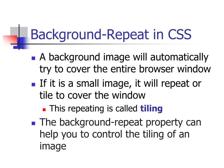 Background-Repeat in CSS