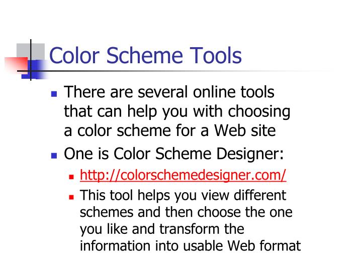 Color Scheme Tools