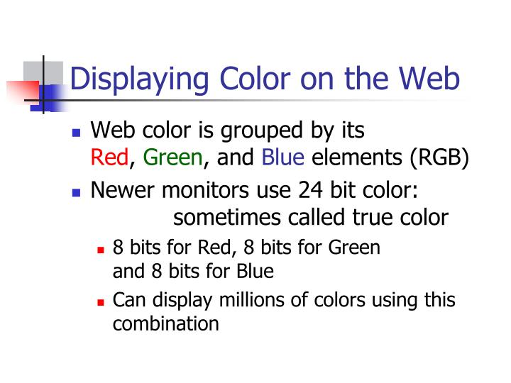 Displaying Color on the Web
