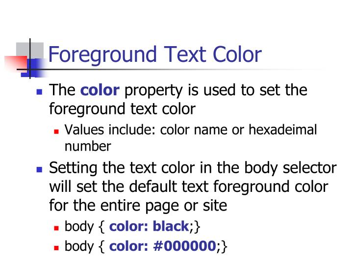 Foreground Text Color