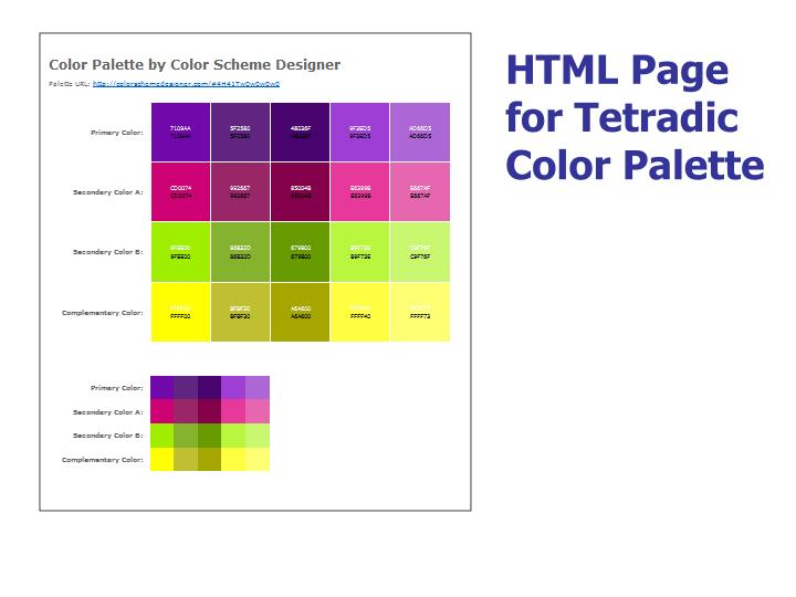 HTML Page for Tetradic