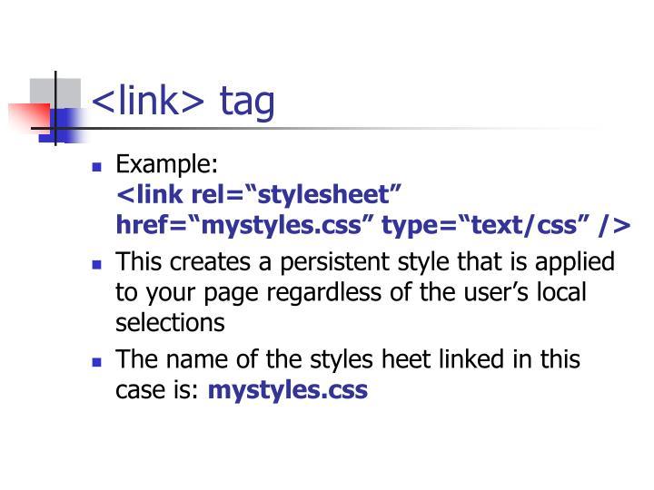 <link> tag