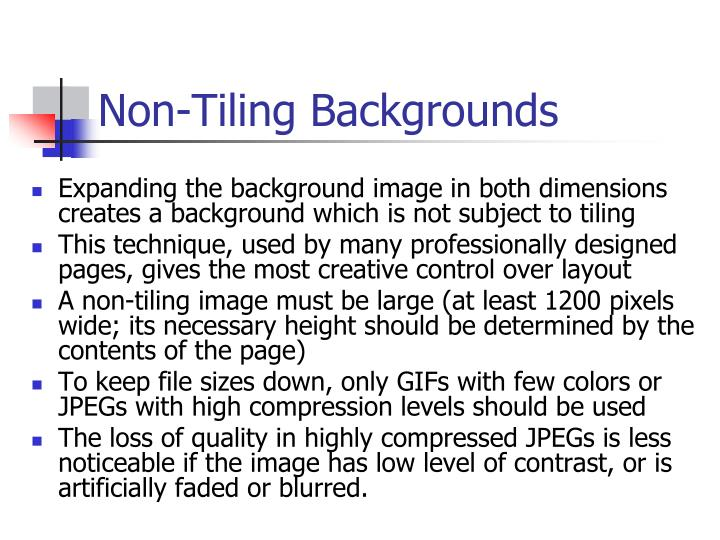 Non-Tiling Backgrounds