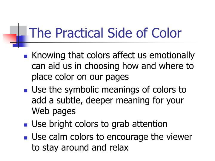 The Practical Side of Color