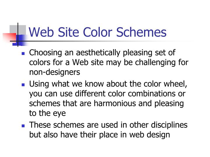 Web Site Color Schemes