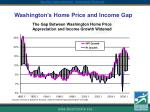 washington s home price and income gap