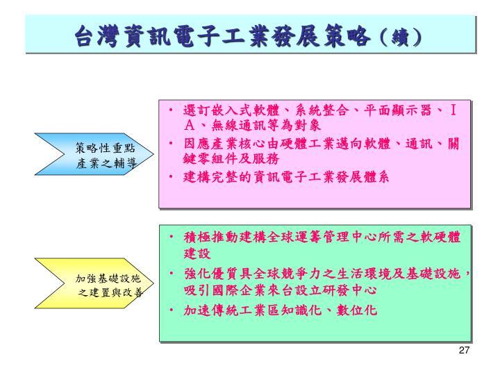 台灣資訊電子工業發展策略
