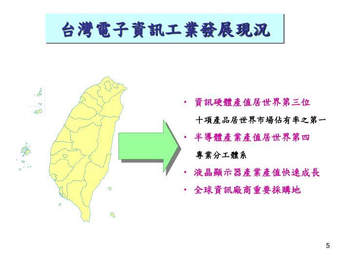 台灣電子資訊工業發展現況