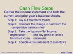 cash flow steps