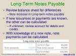 long term notes payable