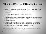 tips for writing editorial letters