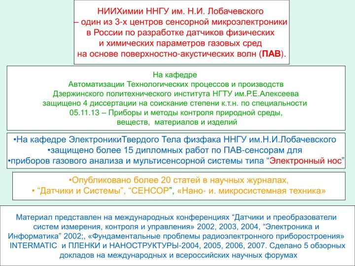 НИИХимии ННГУ им. Н.И. Лобачевского