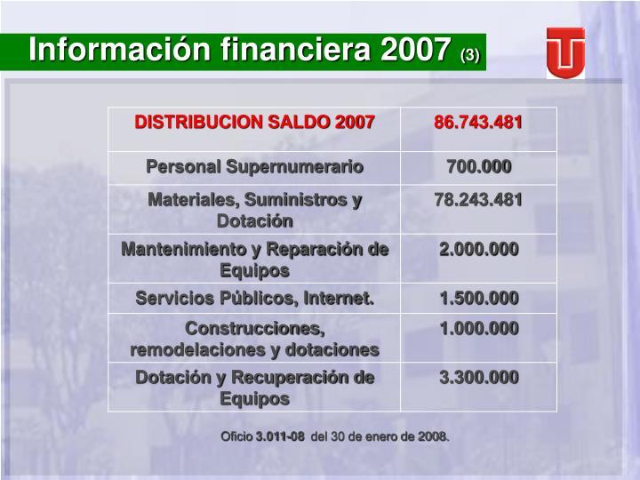 Información financiera 2007