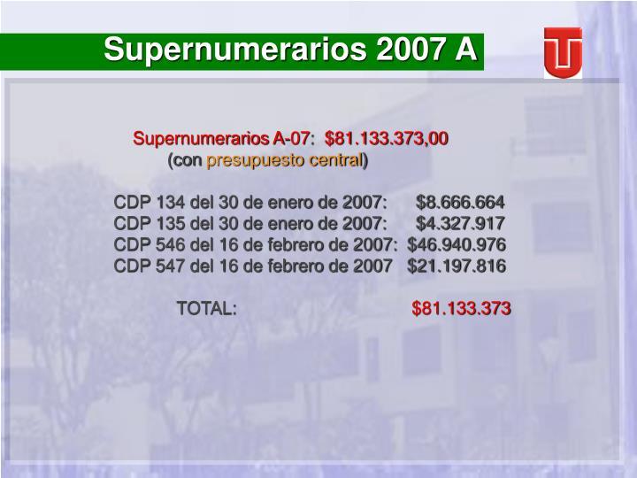 Supernumerarios 2007 A