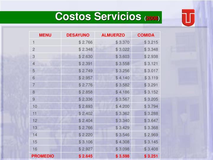 Costos Servicios