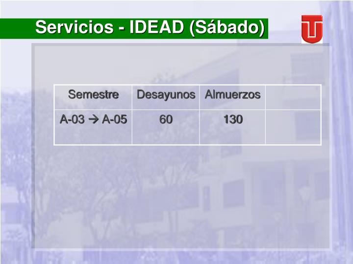 Servicios - IDEAD (Sábado)