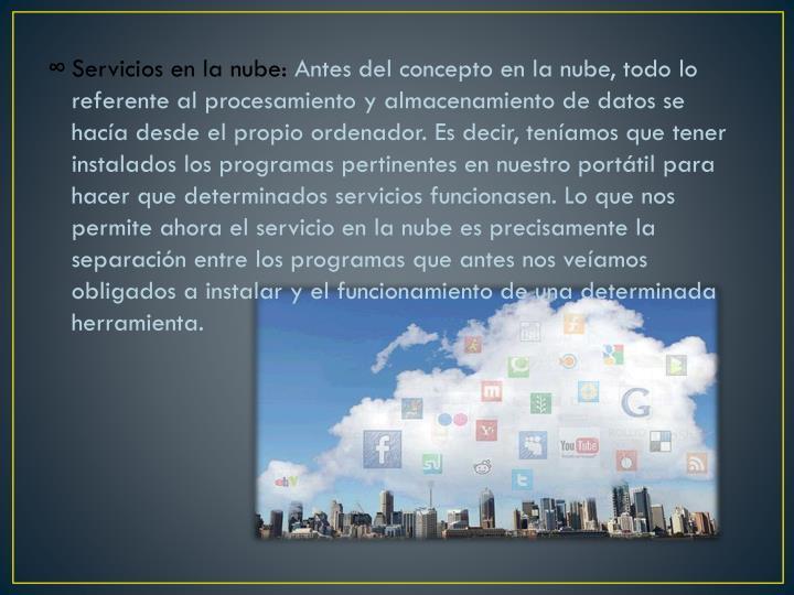 Servicios en la nube: