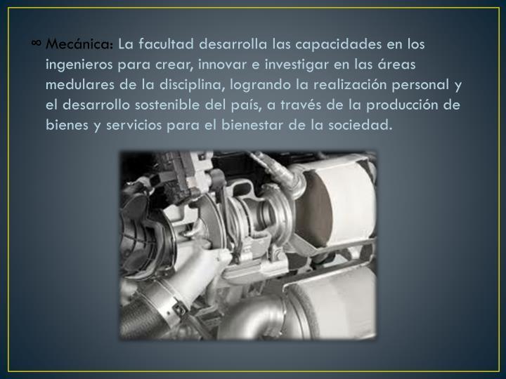 Mecánica: