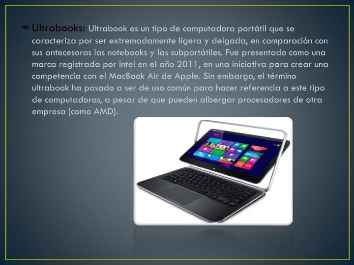 Ultrabooks: