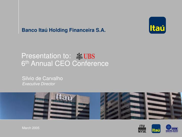 presentation to 6 th annual ceo conference n.