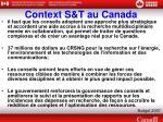 context s t au canada