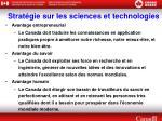 strat gie sur les sciences et technologies