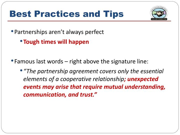 Best Practices and Tips