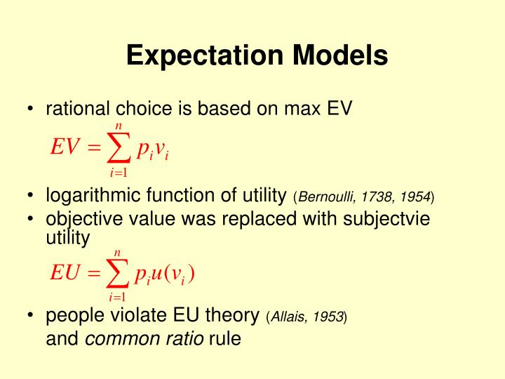 Expectation models