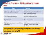 trends in practice shifts noticed in recent times