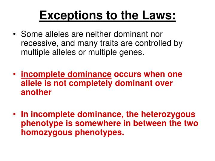 Exceptions to the Laws: