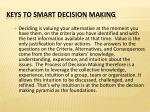 keys to smart decision making3