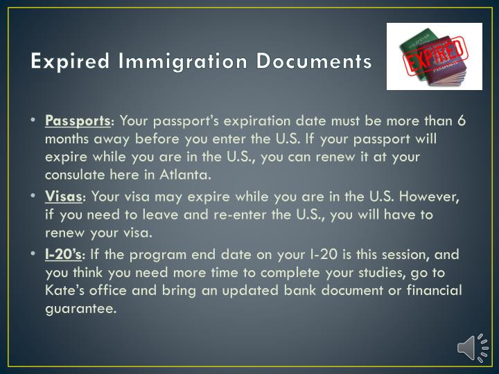 Expired Immigration Documents