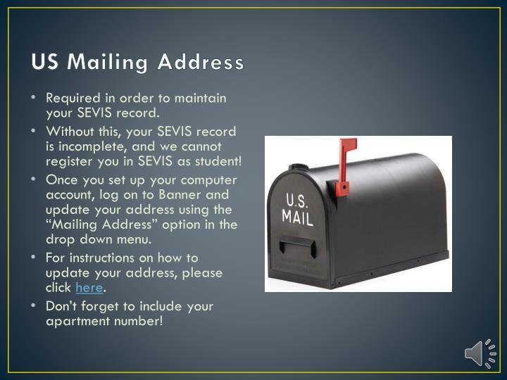US Mailing Address