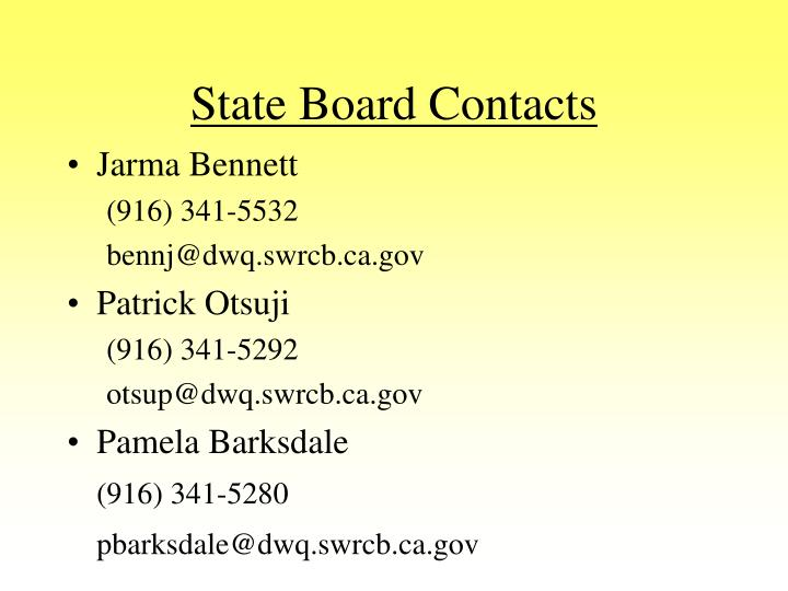 State Board Contacts