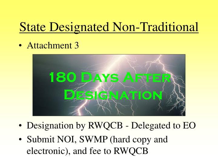 State Designated Non-Traditional
