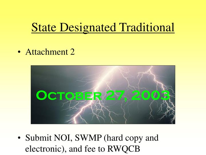 State designated traditional