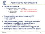 action items for today 3