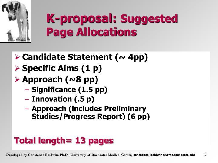 K-proposal: