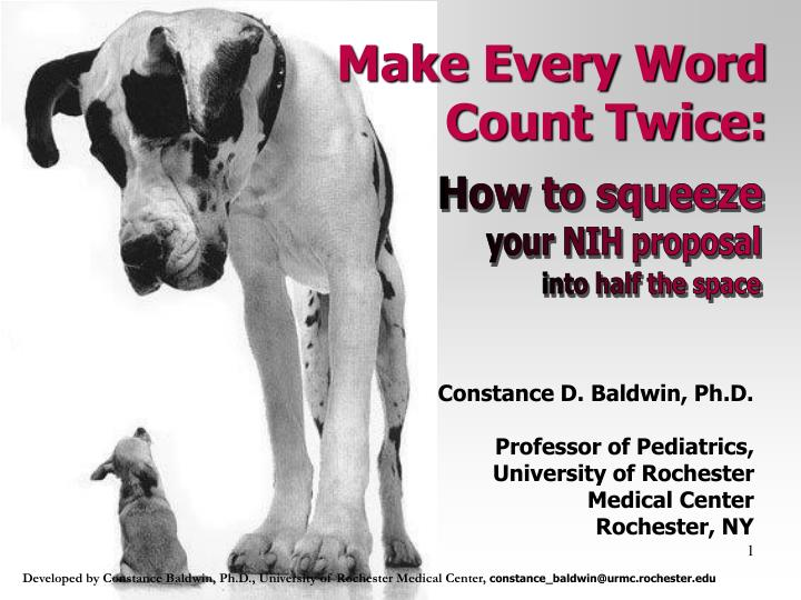 Make Every Word Count Twice: