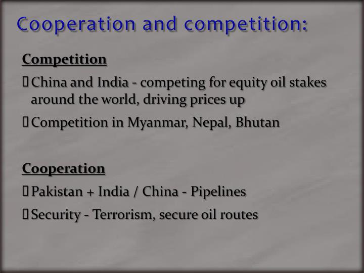 Cooperation and competition: