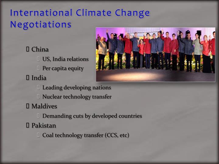 International Climate Change Negotiations