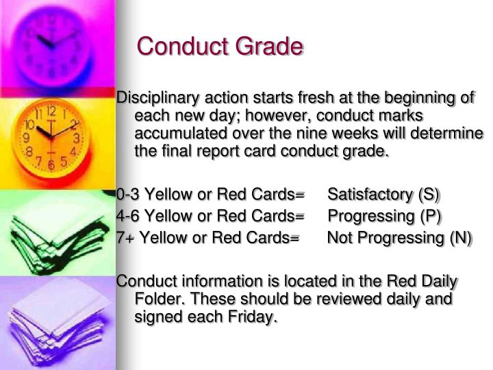 Conduct Grade