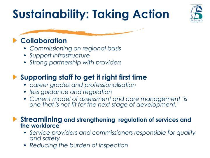 Sustainability: Taking Action