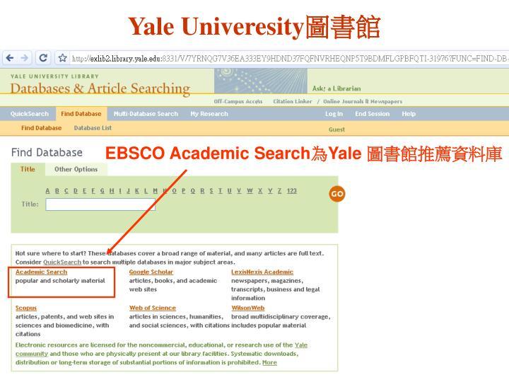 Yale Univeresity