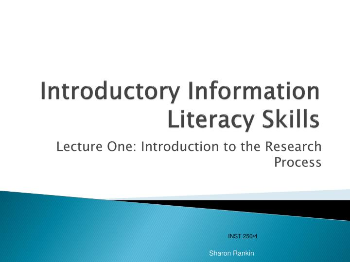 introductory information literacy skills n.