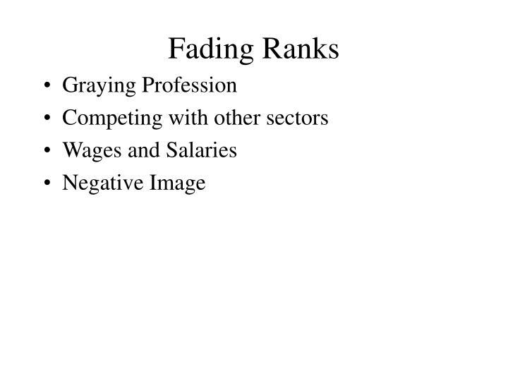 Fading Ranks