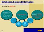 databases data and information