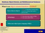 relational object oriented and multidimensional databases4